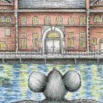 Cyprienne, Musée régional's little mouse, visits the canal!