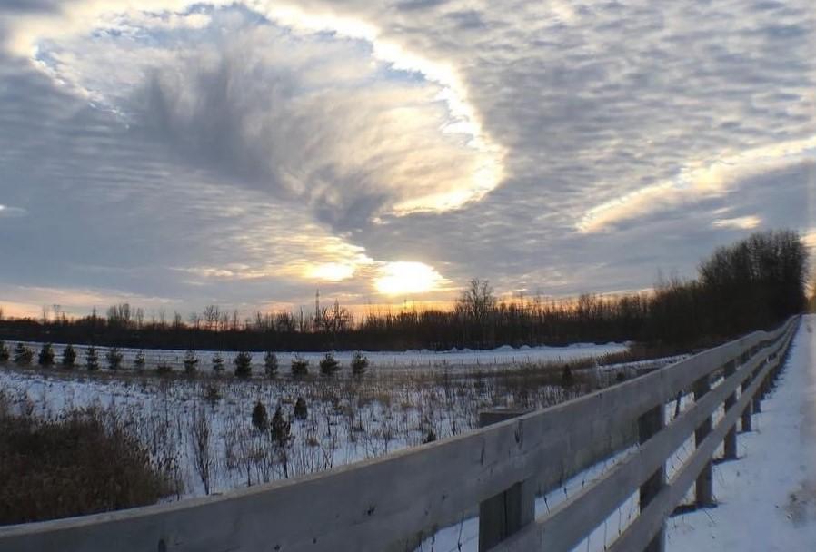 Lise Dubé canal hiver pont autoroute 30