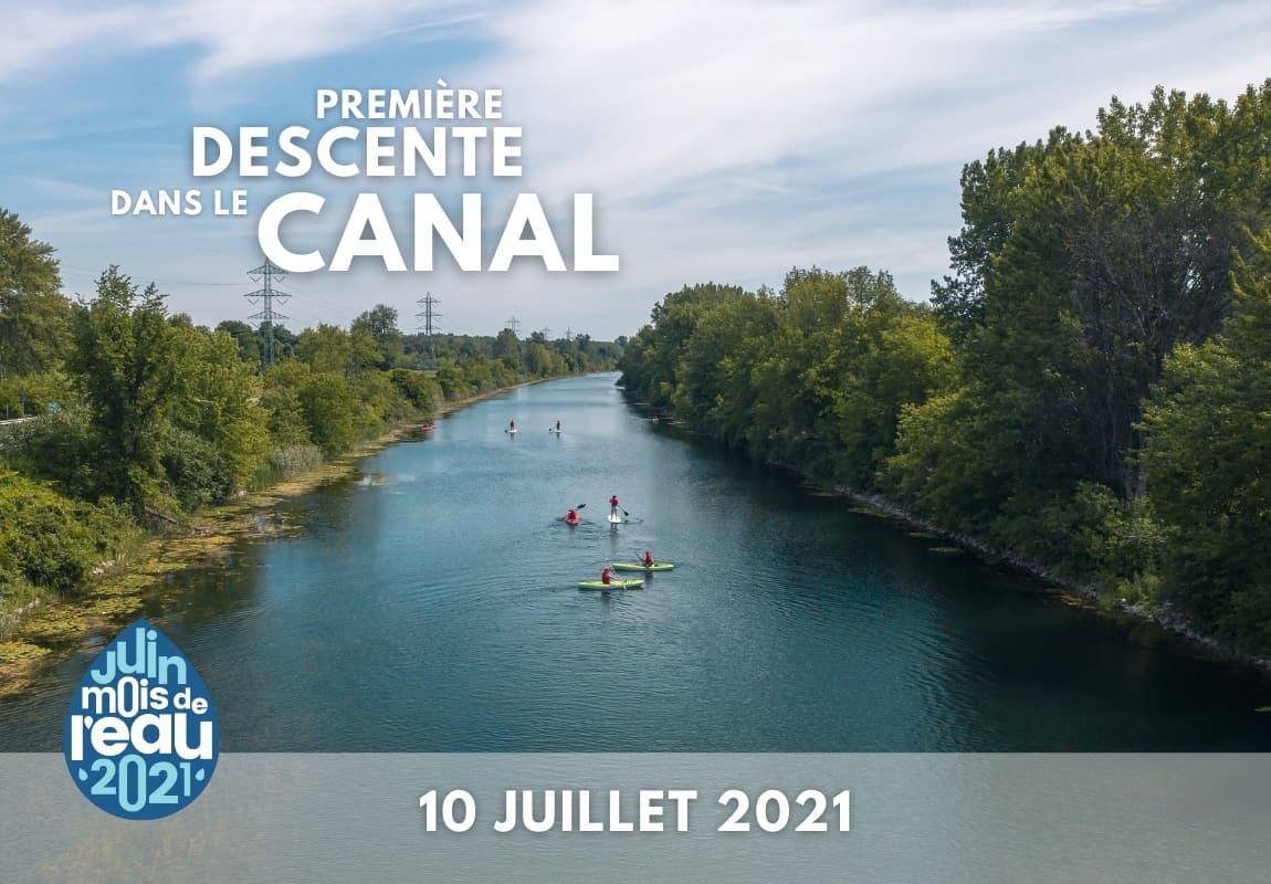 Descente de kayak dans le canal