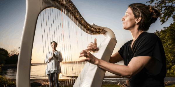Yoga et harpe au canal l'embouchure